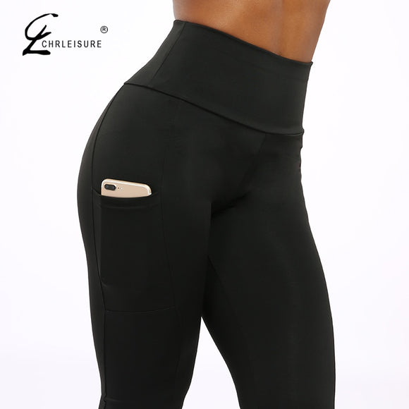 Leggings High Waist Workout with Pockets Patchwork