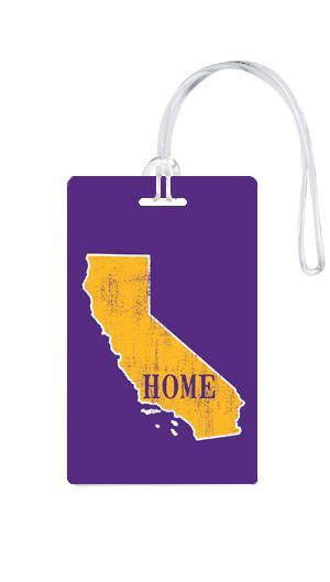 612 My Home State California Luggage Tag