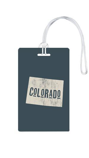 612 My Home State Colorado Luggage Tag