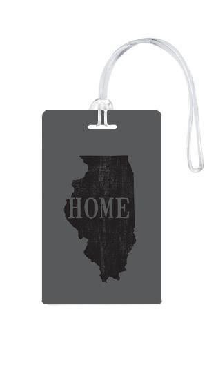 612 My Home State Illinois Luggage Tag