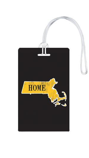 612 My Home State Massachusetts Luggage Tag