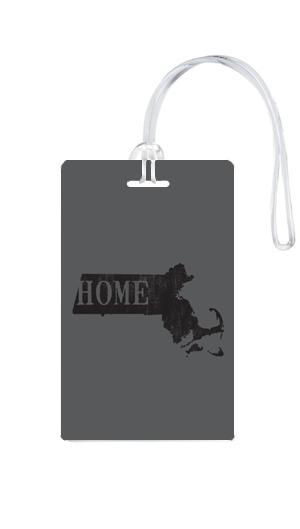 612 My Home State Massachusetts Luggage Tag-Luggage Pros