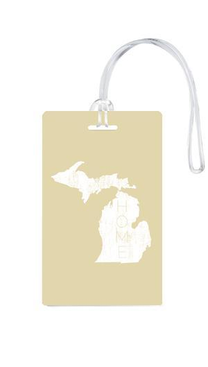 612 My Home State Michigan Luggage Tag-Luggage Pros