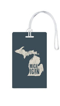 612 My Home State Michigan Luggage Tag