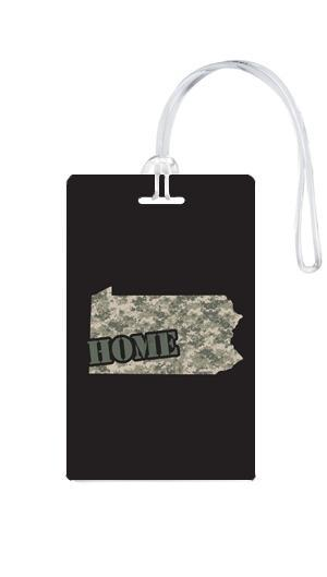 612 My Home State Pennsylvania Luggage Tag