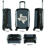 "612 My Home State Texas 24"" Checked Bag-Luggage Pros"