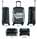 "612 My Home State Wisconsin 24"" Checked Bag-Luggage Pros"