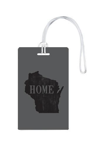 612 My Home State Wisconsin Luggage Tag