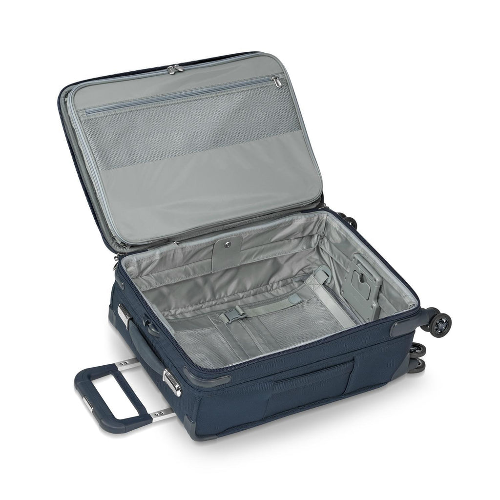 Briggs & Riley Baseline Chrome Domestic Carry-On Expandable Spinner - Navy