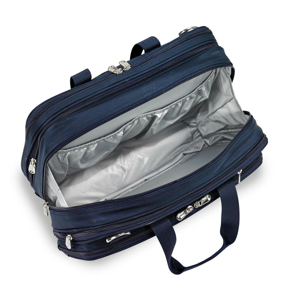 Briggs & Riley Baseline Chrome Expandable Cabin Bag - Navy
