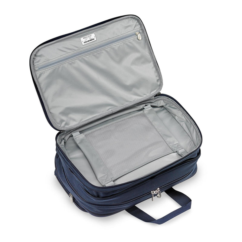 Briggs & Riley Baseline Chrome Expandable Cabin Bag - Navy-Luggage Pros