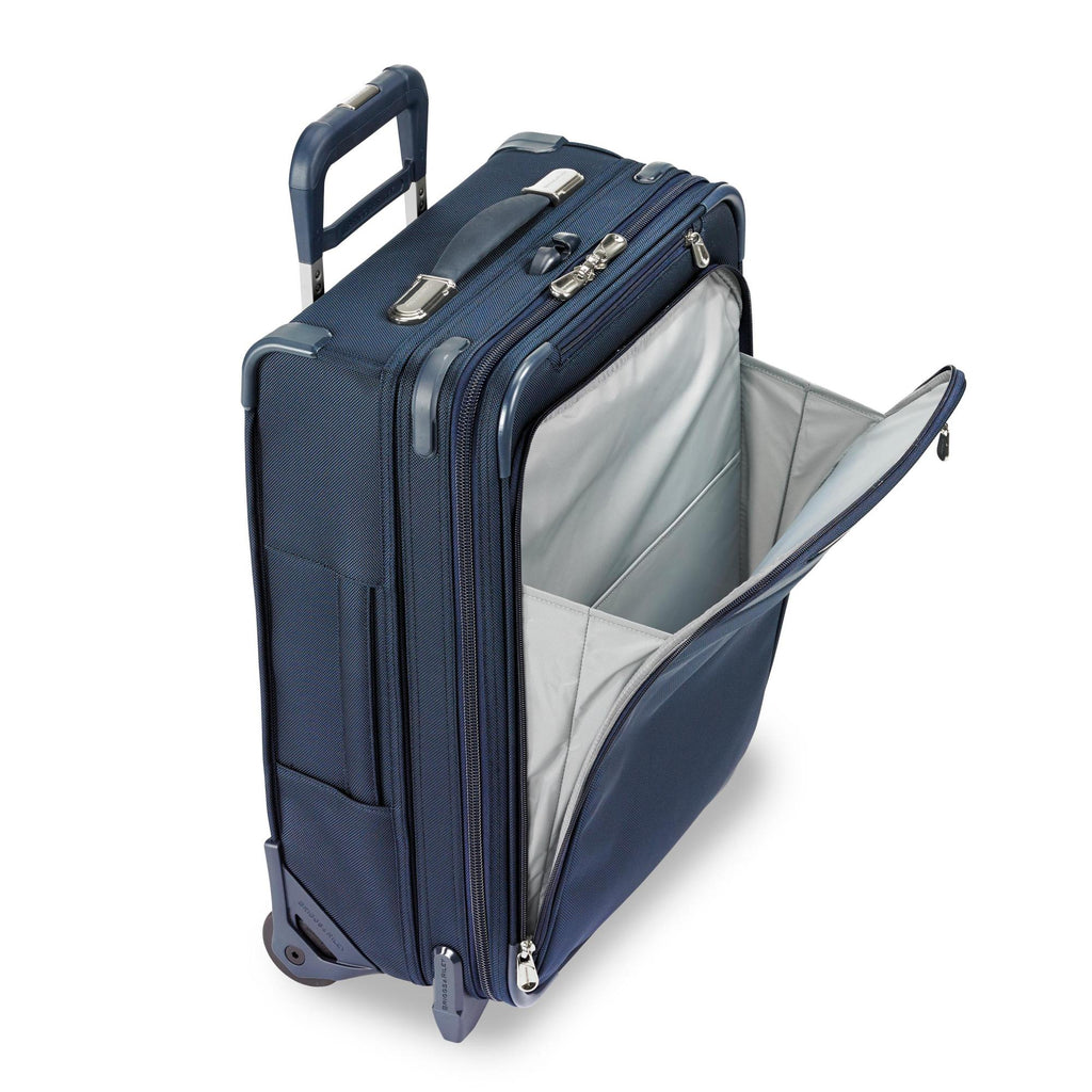 Briggs & Riley Baseline Chrome International Carry-on Expandable Wide-Body Upright - Navy