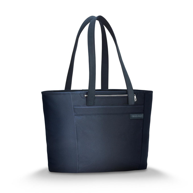 Briggs & Riley Baseline Chrome Large Shopping Tote - Navy-Luggage Pros