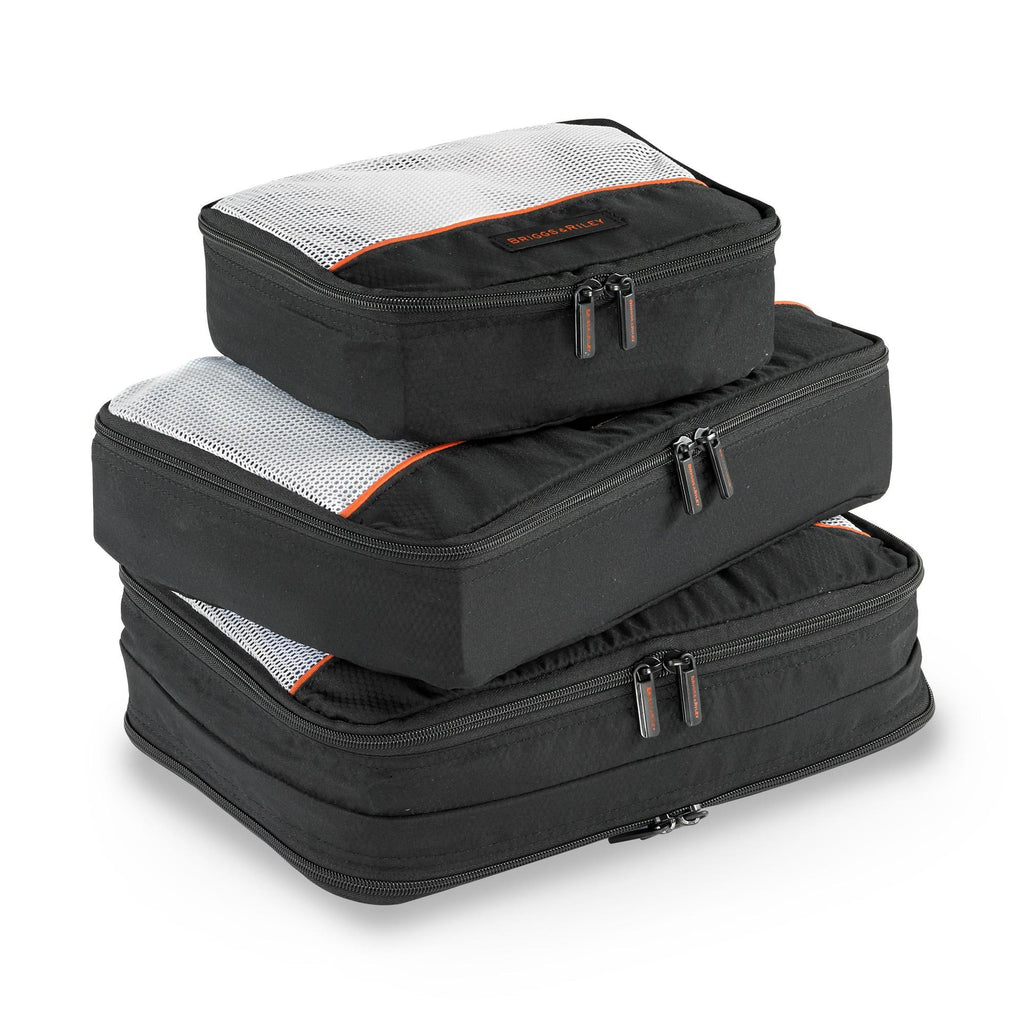 Briggs & Riley Travel Basics Set Of 3 Small Packing Cubes - Black