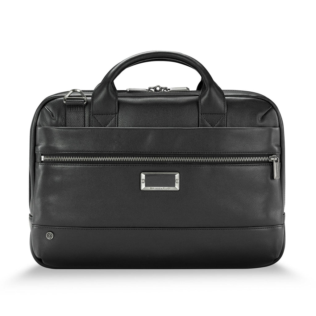 Briggs & Riley @Work Leather Slim Brief - Black