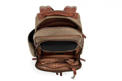 Korchmar Lux Mason Waxed Canvas and Leather Laptop Backpack