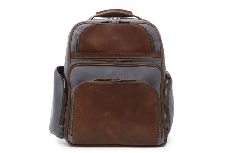 Korchmar Lux Mason Waxed Canvas and Leather Laptop Backpack-Luggage Pros