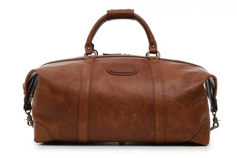 Korchmar Lux Twain Pull Leather Weekender - Espresso-Luggage Pros