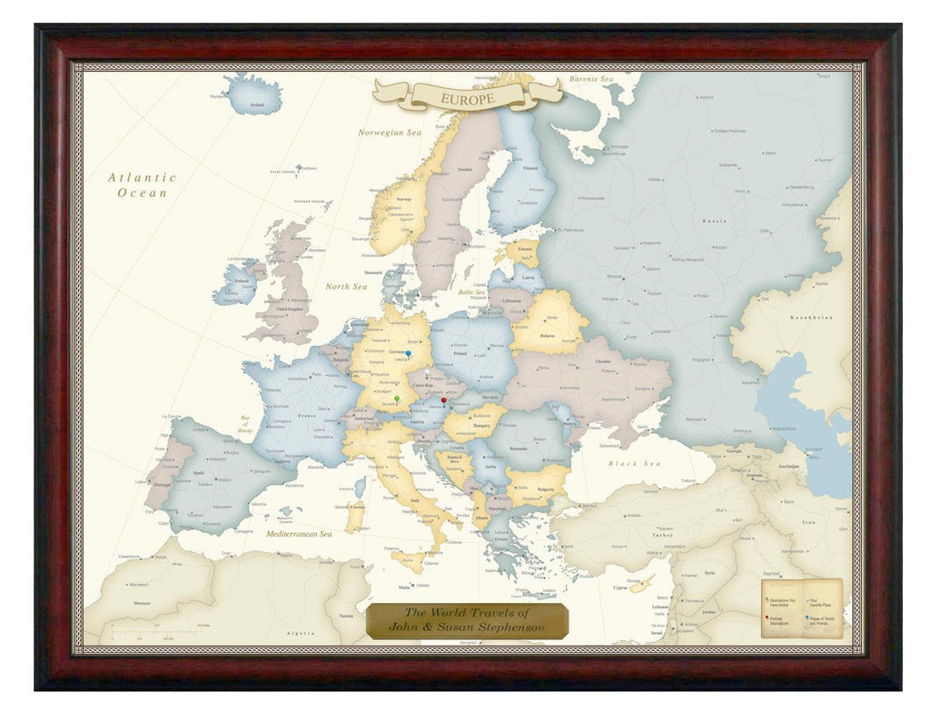 Luggage Pros Personalized Europe Travel Map