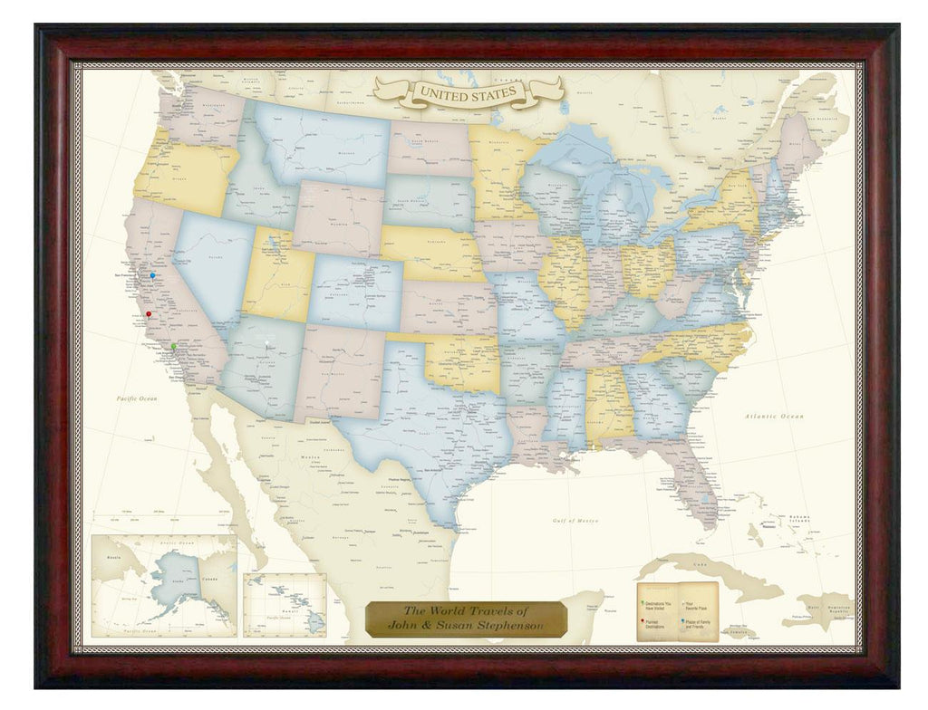 Luggage Pros Personalized United States Travel Map