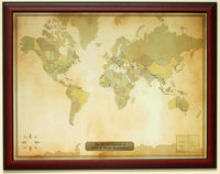 Luggage Pros Personalized Vintage World Travel Map