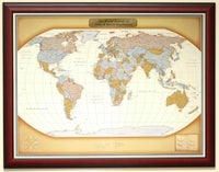 Luggage Pros Personalized World Travel Map