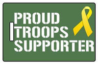 "Luggage Pros ""Proud Troops Supporter"" Luggage Tag"