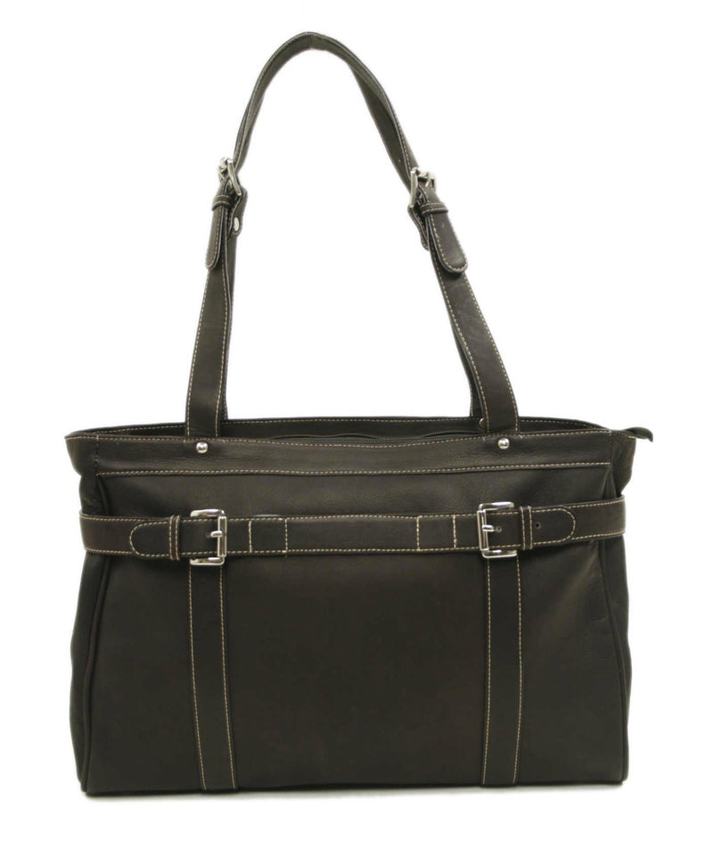Piel Leather Belted Computer Tote-Luggage Pros