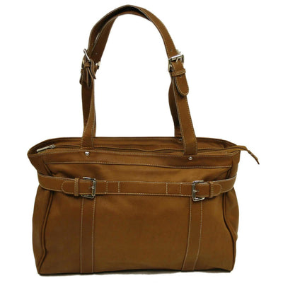 Piel Leather Belted Computer Tote