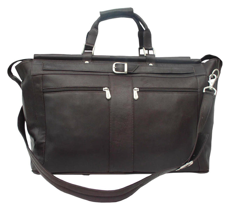 Piel Leather Carpet Bag with Pockets-Luggage Pros