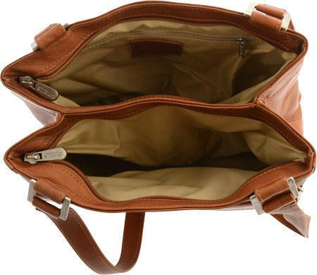 Piel Leather Double Compartment Shoulder Bag-Luggage Pros