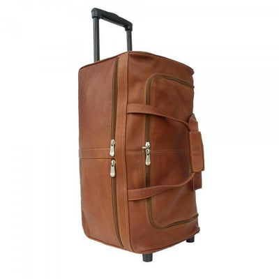 Piel Leather Duffel On Wheels