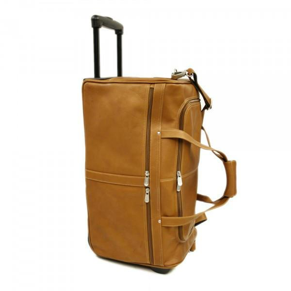 Piel Leather Duffel On Wheels-Luggage Pros