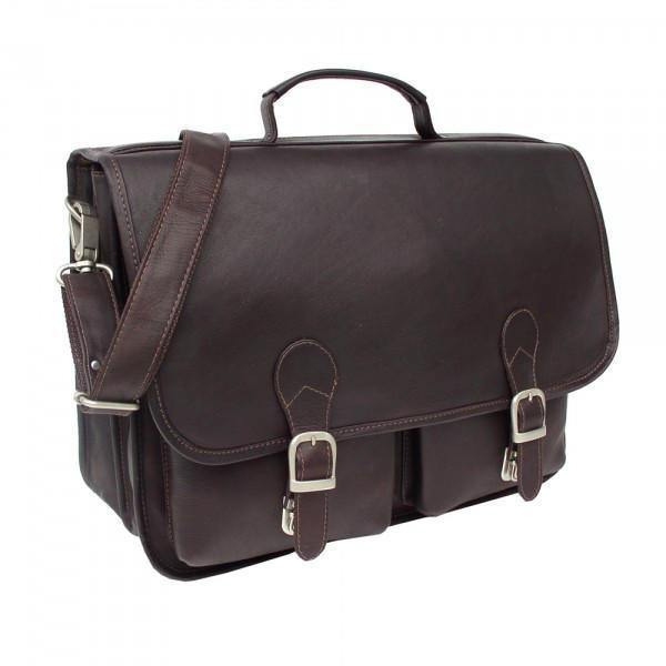 Piel Leather Executive Two Pocket Portfolio-Luggage Pros
