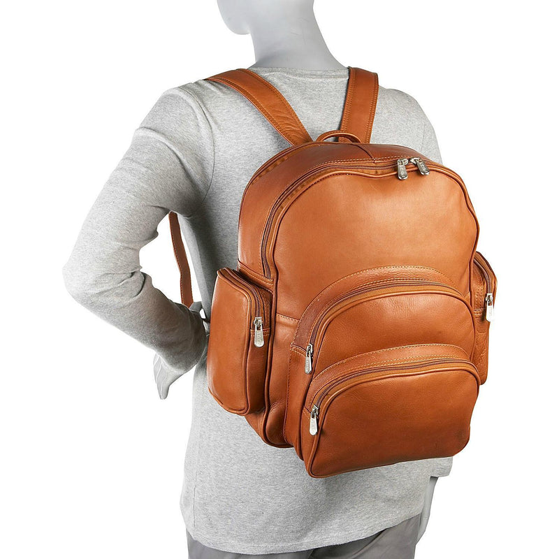 Piel Leather Expandable Backpack-Luggage Pros
