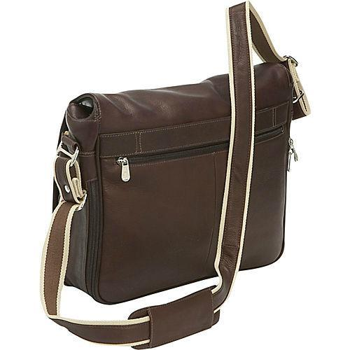 Piel Leather Expandable Messenger Bag-Luggage Pros