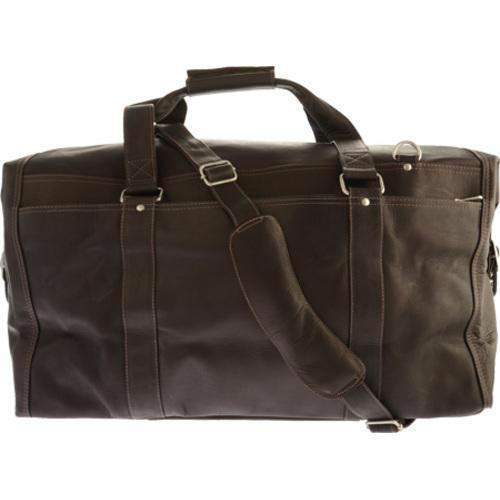 Piel Leather Extra Large Zip-Pocket Duffel-Luggage Pros