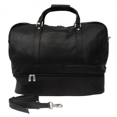 Piel Leather False-Bottom Sports Bag