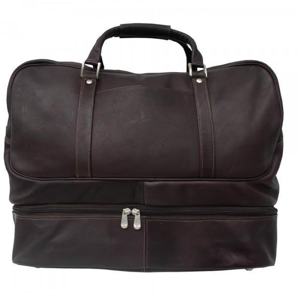Piel Leather False-Bottom Sports Bag-Luggage Pros