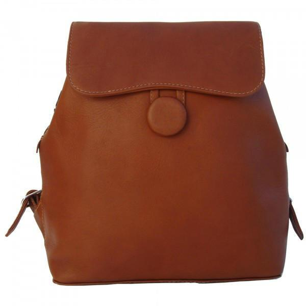 Piel Leather Flap-Over Button Backpack-Luggage Pros