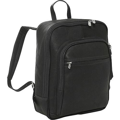 Piel Leather Front Pocket Computer Backpack-Luggage Pros