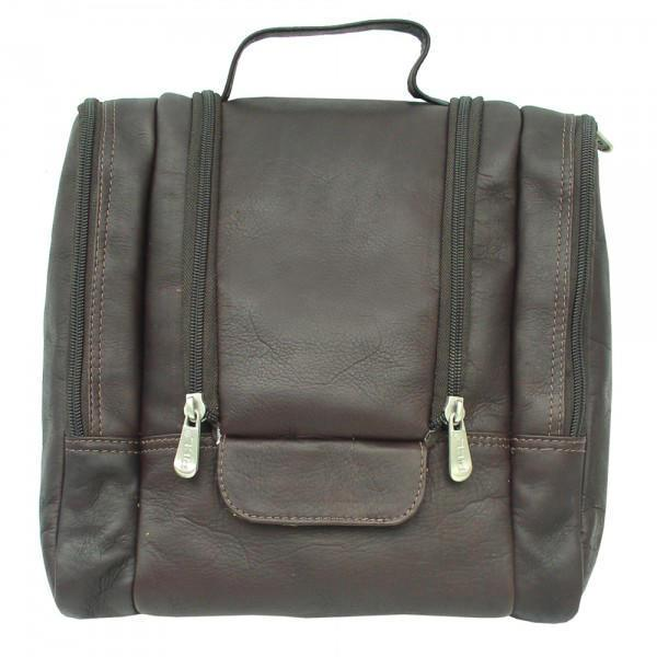 Piel Leather Hanging Travel Toiletry Kit-Luggage Pros