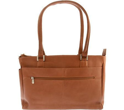 Piel Leather Ladies Laptop Tote With Pockets