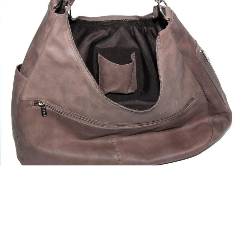 Piel Leather Large Crossbody/Hobo Shoulder Bag-Luggage Pros