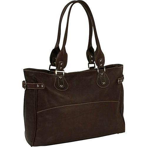 Piel Leather Large Ladies Side Strap Tote-Luggage Pros
