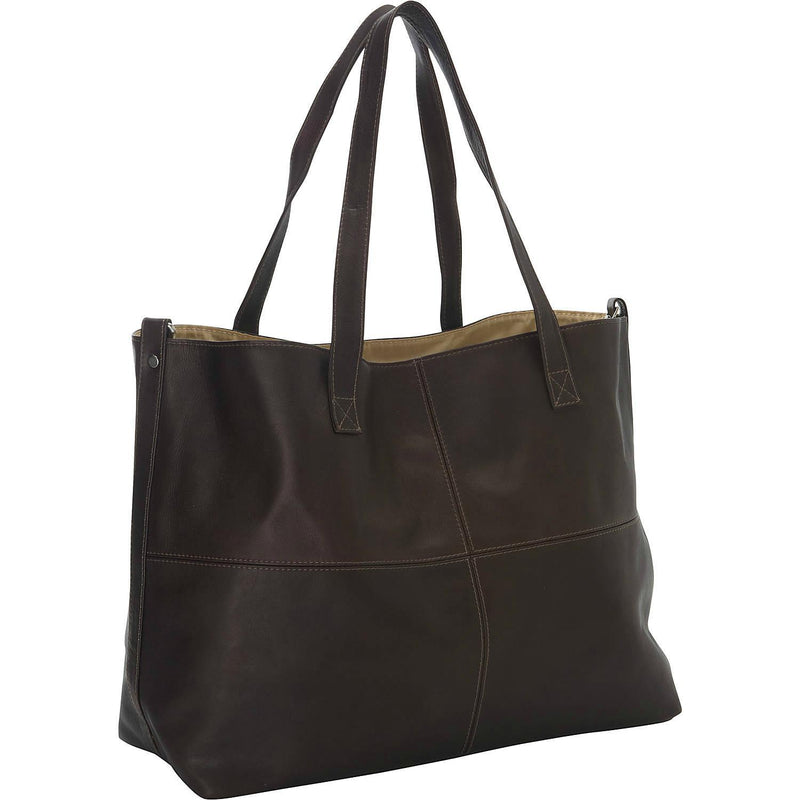 Piel Leather Large Open Multi-Purpose Tote-Luggage Pros