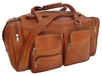 Piel Leather Medium Duffel With Pockets