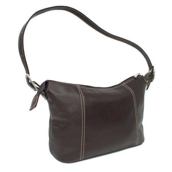 Piel Leather Medium Shoulder Bag-Luggage Pros