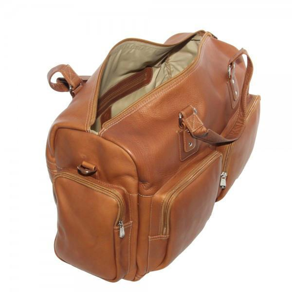 Piel Leather Multi-Pocket Carry-On-Luggage Pros