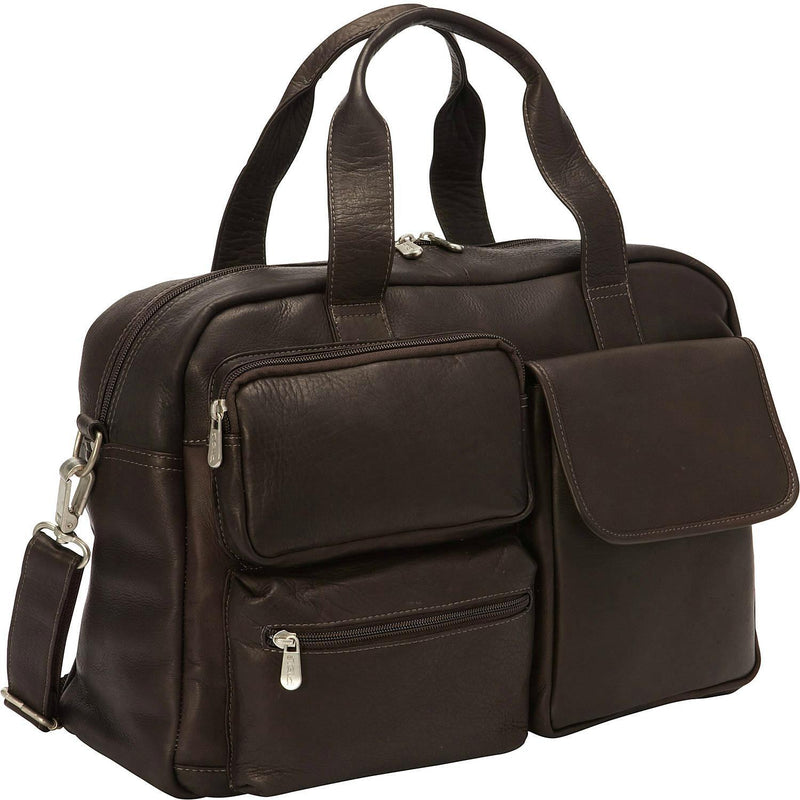 Piel Leather Multi-Pocket Carry-On Duffel-Luggage Pros